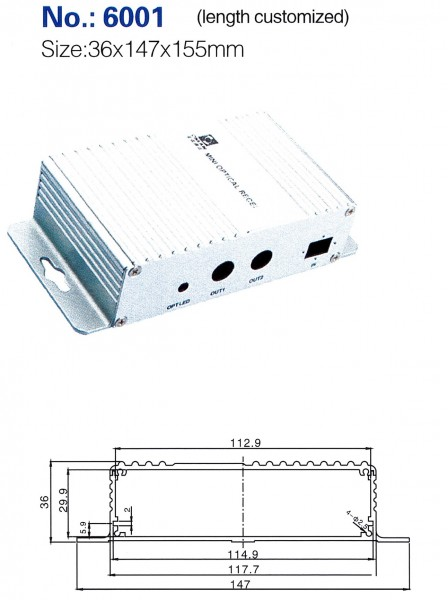 Profilgehäuse 131-6001