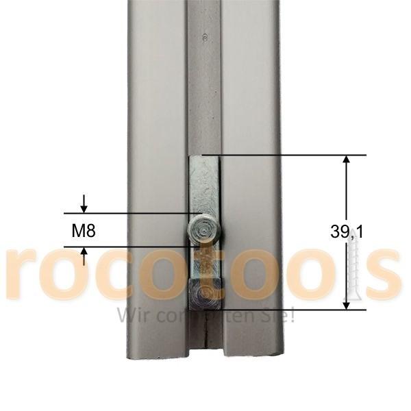 Profilspanner Gew. Vds für Nut 8 Profil 40, Stahl verz.