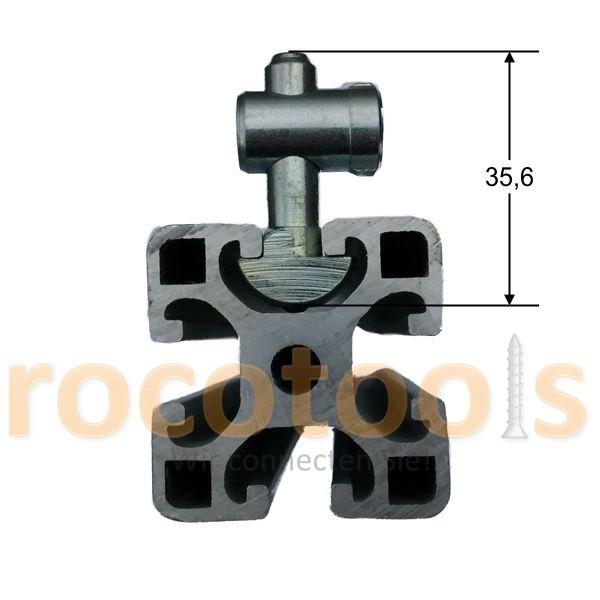 Mittelspanner schmal für Nut 8 Profil 40, Stahl verz.