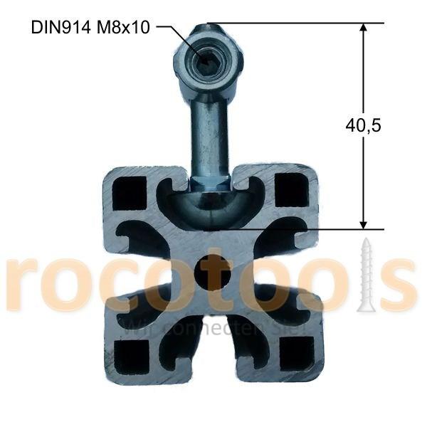 Mittelspanner rd. VdsL Nut 8 Profil 40, Stahl verz.