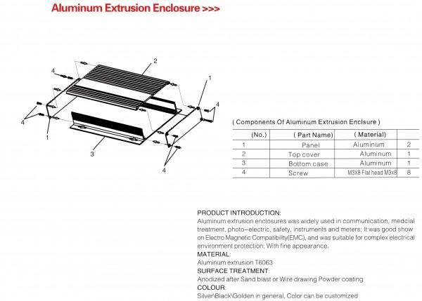 Aluminium Extrusions Profile Übersicht