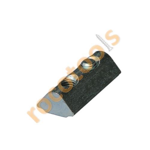 Nutenstein Nut 8, M5, steckbar feststellbar, Stahl verz.