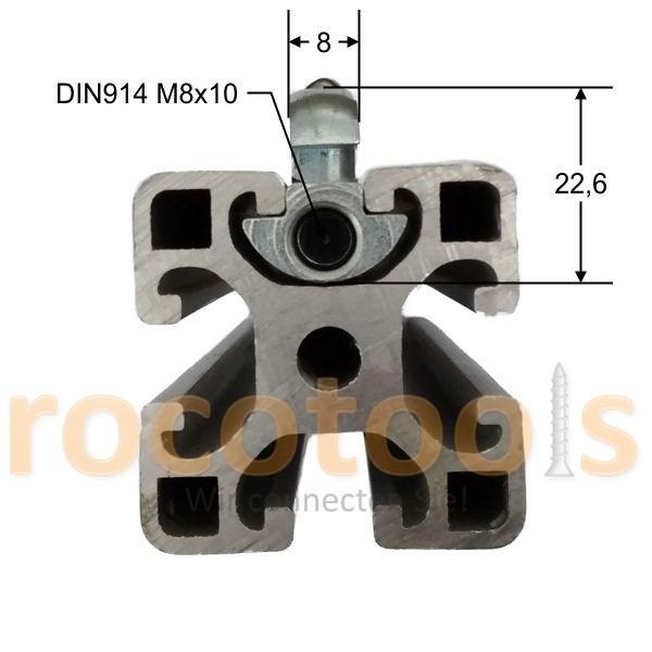 Profilspanner schmal für Nut 8 Profil 40, Stahl verz.