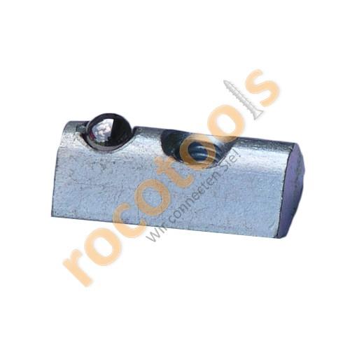Nutenstein Nut 8, M5, Kugel, steckbar Stahl verz.