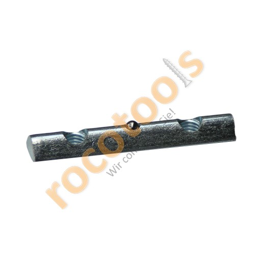 Nutenstein Nut 8, 2xM8/40, Kugel steckb, Stahl verz.