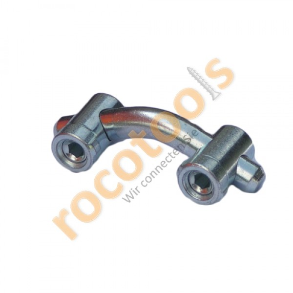 Mittelspanner doppel 135° Nut 8 Profil 40, Stahl verz.