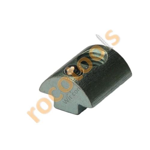Nutenstein Nut 8, M8, Kugel, schiebbar, Stahl verz.
