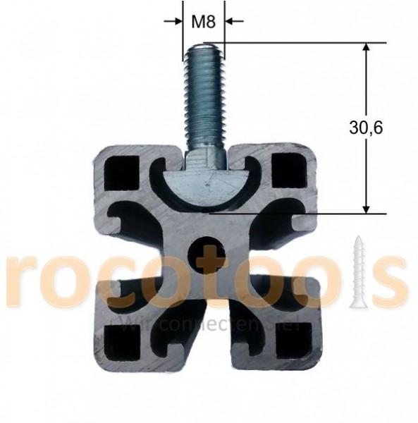 Schraubanker Nut 8, M8 x 30, 42CrMo4 verz.