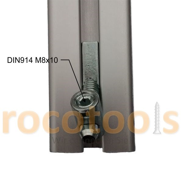 Mittelspanner Gew. 45° für Nut 8 Profil 40, Stahl verz.