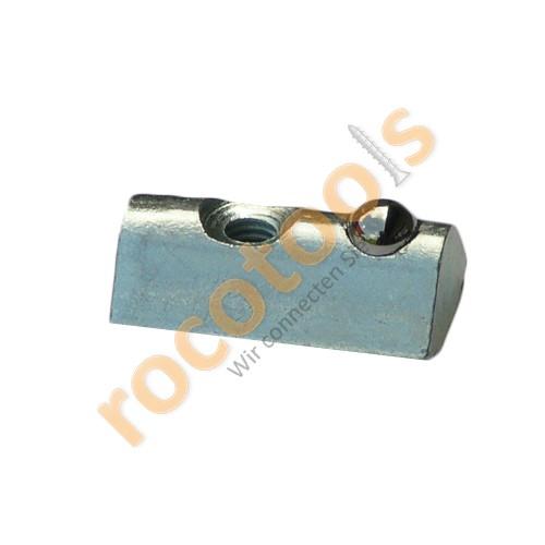Nutenstein Nut 8, M4, Kugel, steckbar Stahl verz.